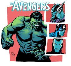 Terrific Avengers Illustrations,  Craig Cermak #comic #marvel #Avengers