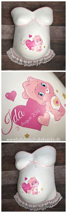 Belly Cast (selfmade by customer) with baby girl design for nursery - by Julia Schulze, Germany