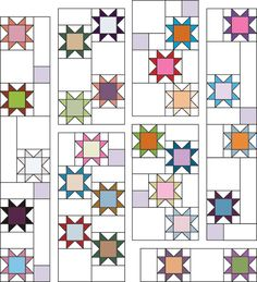 Free Project from Make Star Quilts - C&T PublishingYou can find Star quilts and more on our website.Free Project from Make Star Quilts - C&T Publishing Star Quilt Blocks, Star Quilts, Scrappy Quilts, Easy Quilts, Quilting Projects, Quilting Designs, Sewing Projects, Quilt Modernen, Scrap Quilt Patterns