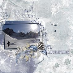 My husband loves to back country ski.   Credits: NBK Designs at Artisan Scrap - Art Conversation Templates 4 - Releasing in September Bling Bling Stars - Silver Winter by Designs by Courtney -