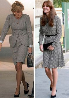 Princess Diana & Duchess Catherine - gray and black