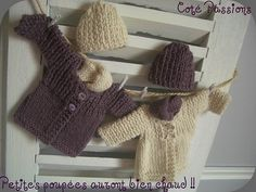instructions for cardigan on website Tricot Baby, Waldorf Dolls, Knitted Dolls, Ag Dolls, Diy Projects To Try, Fingerless Gloves, Arm Warmers, Doll Clothes, Knit Crochet