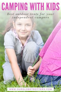 Kids looking to have their own independent tent next time you camp? These beginner tents are ideal for children learning to set up on their own for outdoor adventures | Best Kids tents | Camping with kids | Get Kids Outside | Our Globetrotters Family Travel Blog Kids Camping Tent, Kids Tents, Camping With Kids, Hiking Tips, Camping And Hiking, Cool Tents, Toddler Travel, Outdoor Adventures, Trip Planning
