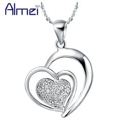 Find More Pendant Necklaces Information about Necklaces for Women 925 Sterling Silver Suspension Love Wholesale Fashion Necklace New Jewelry Ornamentation Ulove N584 Gaowen,High Quality necklace frame,China necklace shell Suppliers, Cheap necklace logo from ULove Fashion Jewelry Store on Aliexpress.com
