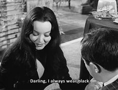 La Muñeca de la Mafia : Photo - Morticia Addams, all black everyday
