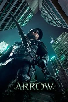 Arrow      Spoiled billionaire playboy Oliver Queen is missing and presumed dead when his yacht is lost at sea. He returns five years later a changed man, determined to clean up the city as a hooded vigilante armed with a bow.