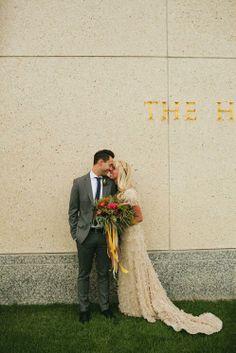 Modest wedding dress  Photo: Brooke Stapleton