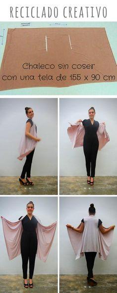 54 Ideas For Diy Ropa Reciclada Sin Coser Sewing Hacks, Sewing Tutorials, Sewing Crafts, Clothing Patterns, Dress Patterns, Sewing Patterns, Diy Kleidung, Diy Vetement, Diy Fashion