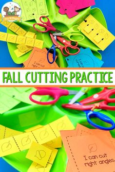 Scissor Skills Cutting Practice for Fall. Fall theme fine motor activitiy tray to practice scissor skills. These fall themed printables are perfect for practicing fine motor skills! Cutting Practice, Pre K Pages, Cutting Activities, Kids Learning Activities, Motor Activities, Fine Motor Skills, Pre Writing, Cool Writing, Self Help Skills