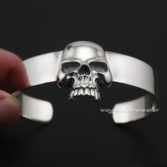 If life is like a box of chocolates then this Solid 925 Sterlin... is like fine wine.. Get yours today!! http://mycicret.info/products/solid-925-sterling-silver-skull-mens-biker-bracelet-bangle-9a009?utm_campaign=social_autopilot&utm_source=pin&utm_medium=pin