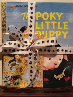 Poky Little Puppy 1st birthday party favors.