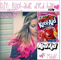 Dip dying your hair with kool aid{ By Alex}\
