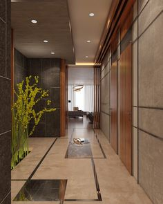 Sea View Villa - Kuwait on Behance Main Entrance Door Design, Modern Entrance, Entrance Foyer, House Entrance, Showroom Interior Design, Lobby Interior, Flur Design, Tile Design, Villa