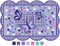 Fun Rugs TSC-225-3958 Supreme Collection Purple Butterfly Multi-Color