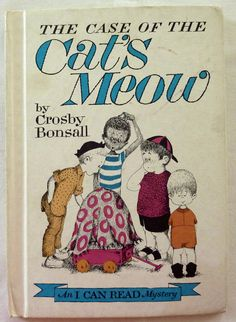 Vintage Children's Book - The Case of the Cat's Meow by Crosby Bonsall - Weekly Reader Book Character Flaws, Animal Books, Vintage Children's Books, Or Antique, Graphic Design Illustration, Book Publishing, Childhood Memories, Childrens Books, The Book