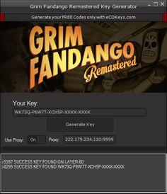 New Grim Fandango Remastered CD-Key download updated. Grim Fandango Remastered CD-Key 2016 download tool. Free download of Grim Fandango Remastered CD-Key.