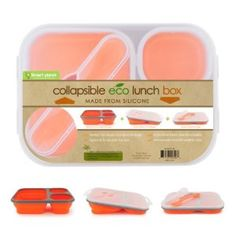 0ffc1539318c Smart Planet Large Eco Silicone Collapsible Lunch Box