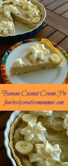 Banana Coconut Cream Pie #BattleofthePies #spon