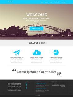 flat design // slab serif font // colours // large photo Karang Full version by Bagus Fikri, via Behance