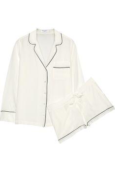 Equipment Lillian Washed-Silk Pajama Set, $395; net-a-porter.com   - ELLE.com
