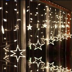 LAIMAIK AC110V or 220V Holiday Lighting LED Fairy Star Curtain String luminarias Garland Decoration Christmas Wedding Light 2M #Affiliate
