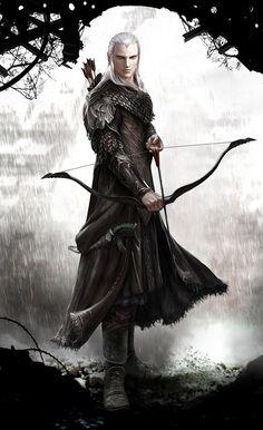 Elven Archer reloaded by Vynthallas on deviantART
