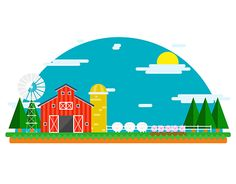 """Check out new work on my @Behance portfolio: """"Barn Flat Design"""" http://on.be.net/1RjGXty"""