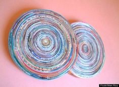 recycled magazine coasters diy by NikkiJo