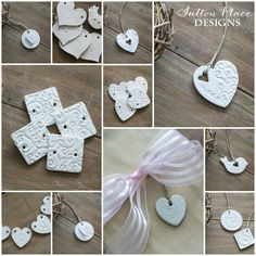 Inspired by Valentine's Day, these handmade heart clay tags are the perfect decor and gift item.