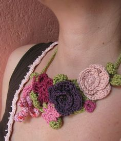 The Garden of Eden - crochet necklace - by @littletreasures