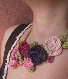 The Garden of Eden - crochet necklace - by @littletreasures