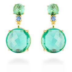 Vic earrings Green #LuxenterJoyas #LuxenterSilver