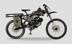 When the zombie apocalypse hits and you need to haul ass from a hoard, you're going to want a bike with some storage space and a good amount of gas. The Survival Bike has you covered on both fronts...