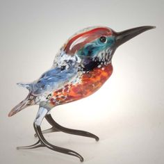 New Products. Glass Kingfisher Figurine is a hand-created glass figurine made in technique... http://russian-crafts.com/glass-figurines/glass-birds/glass-kingfisher-figurine.html