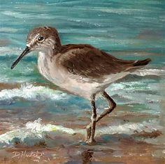 "Daily+Paintworks+-+""Sandpiper+2""+-+Original+Fine+Art+for+Sale+-+©+Diane+Hutchinson"