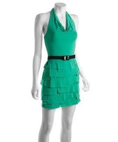 BCBG #green ruffle #dress #fashion $54 (reg 380!!)