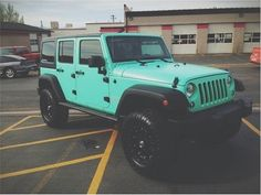 tiffany blue wrangler!                                                                                                                                                      More