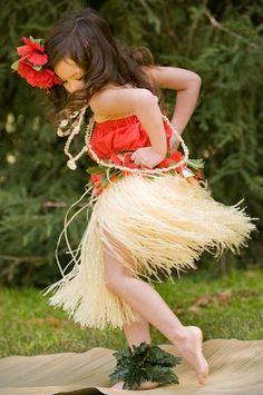hula girl dancing, keiki