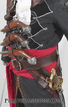 AC Black Beard Baldric N Belt System – Pirate Fashions