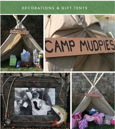 Hostess with the Mostess® - Camp Mudpies & Glitter - Girl/Boy Camping Party