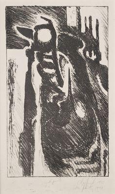 Clyfford Still, PL-8.5, 1943, lithograph, 12 3/4 x 7 1/2 in. (32.4 x 19.1 cm), Richmond, Virginia.