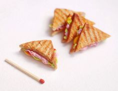 Ickle toasted sandwich.   19 Heartbreakingly Adorable Food Miniatures You Can Buy