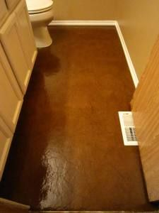 Brown Paper Flooring.  So easy and inexpensive. Way interesting