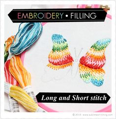 How To: Long and Short stitch with Variegated Floss - so easy!