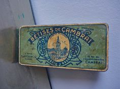 Very Rare french vintage TIN BOX Art Deco 1935 by AbbyinFrance, $38.00