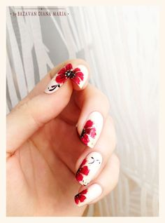 Nailpolis Museum of Nail Art | Flowers Nail Art by Bazavan Diana