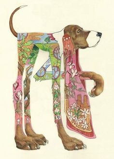 Watercolor artist and illustrator Daniel Mackie's fanciful animal illustrations Art And Illustration, Watercolor Illustration, Animal Illustrations, Painting & Drawing, Art Fantaisiste, Dog Cards, Doodles Zentangles, Watercolor Animals, Watercolor Trees