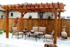 Modern Pergola Backyard with Nice Garden from Wood: Awesome Modern Pergola Backyard With Nice Garden Wooden Design Fence Brown Chair ~ flycdia.com Wood House Designs Inspiration