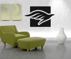 Vinyl Wall Decal Sticker Dove Square #OS_AA1292