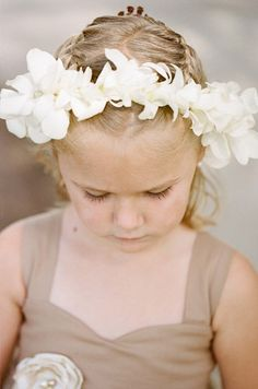 Flower Girl with Orchid Headpiece